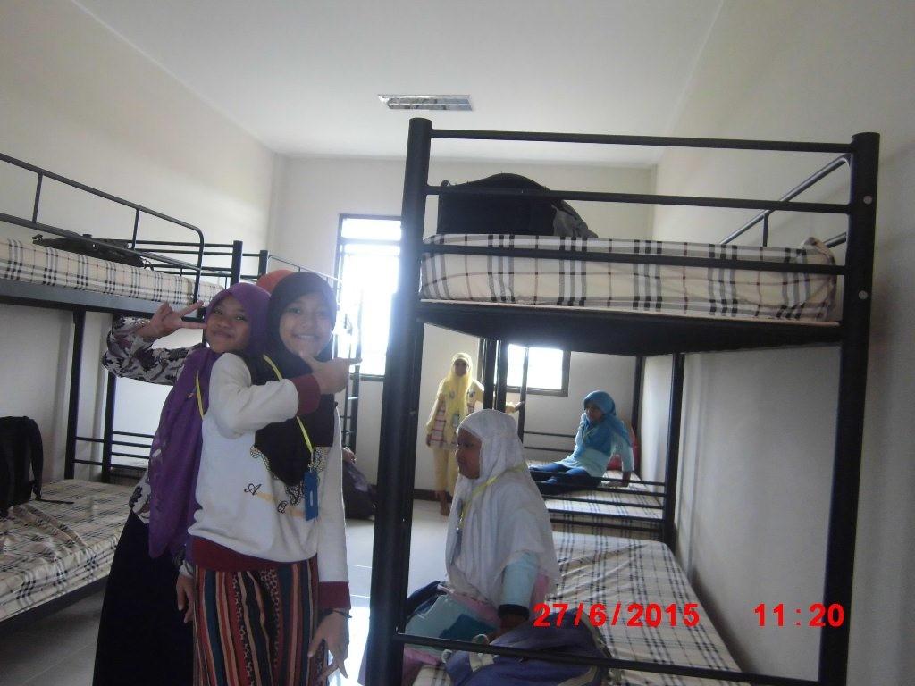 Peserta Wisata Ramadhan sedang berada dalam asrama